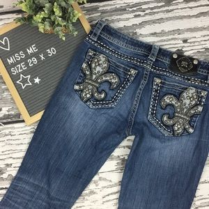 Miss Me - Mid-Rise Boot Cut Jeans- Size 29 x 32